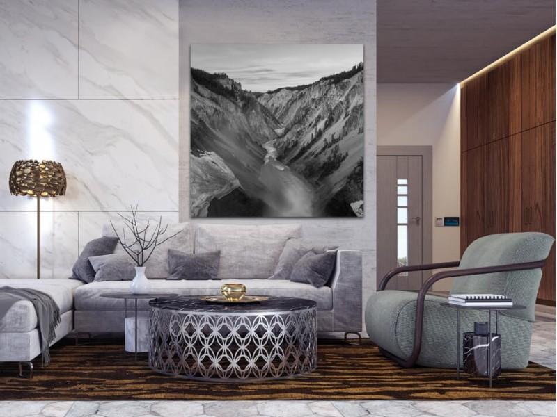Om bij weg te dromen: zwart-witfoto's van landschappen op aluminium