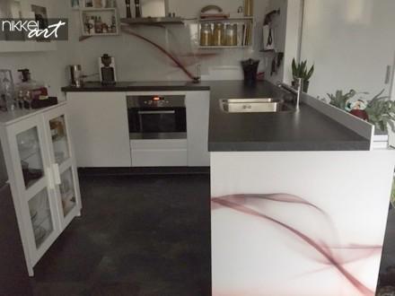 Plexiglazen Keuken Achterwand Abstract Wave