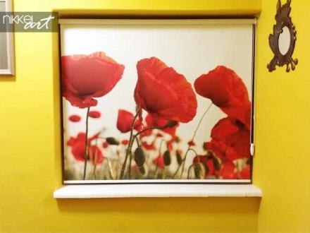 Rolgordijn met foto Poppy