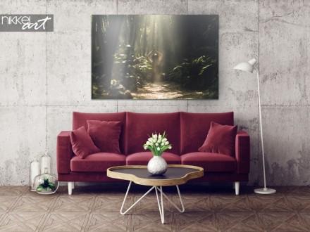 Exotisch Interieur met Bamboe Regenwoud op Aluminium