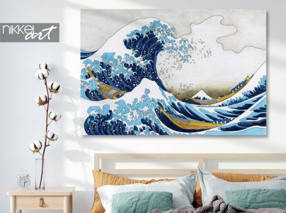 Foto van Hokusai op aluminium