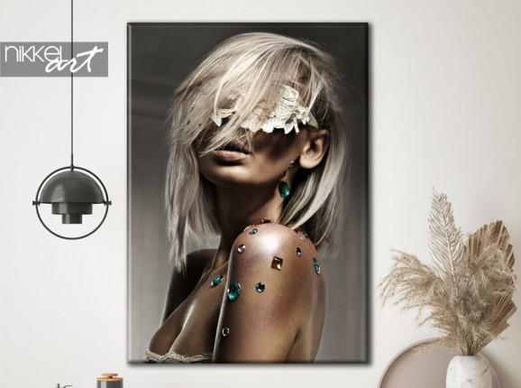 Glamoureuze foto op canvas