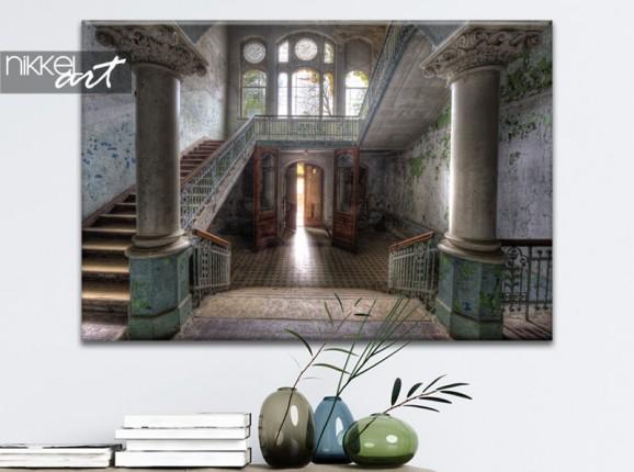 Foto van sanatorium Beelitz op canvas