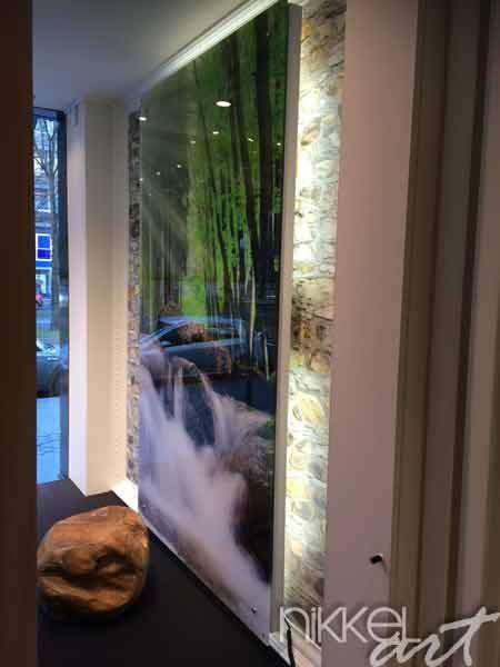 Foto op plexiglas waterval in het bos