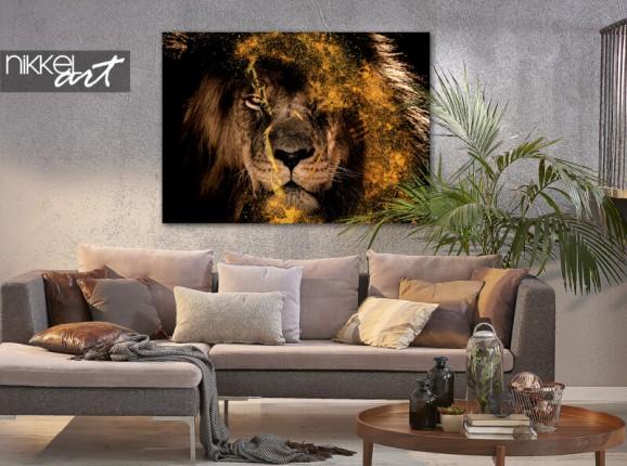 Foto op aluminium Fenna van der Vliet - Golden Lion