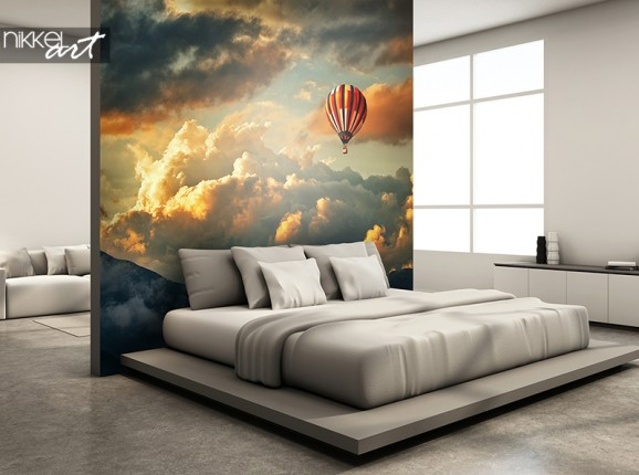 Luchtballon op fotobehang