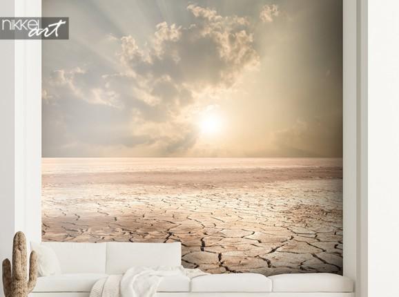 Fotobehang gebarsten aarde