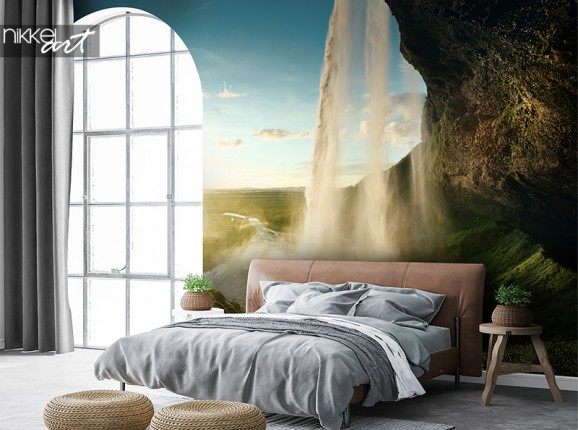 Seljalandsfoss waterval op fotobehang
