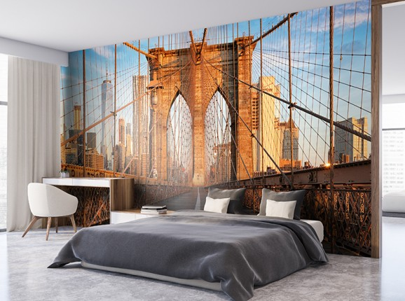 Brooklyn Bridge op fotobehang