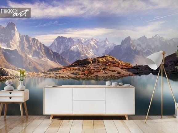 Bergmeer op fotobehang