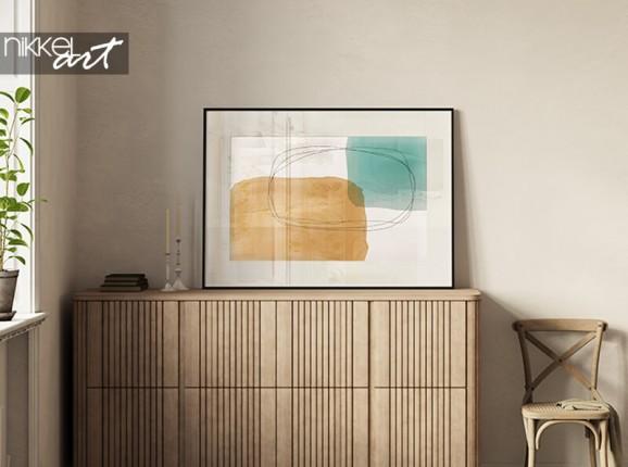 Ingelijste abstracte poster