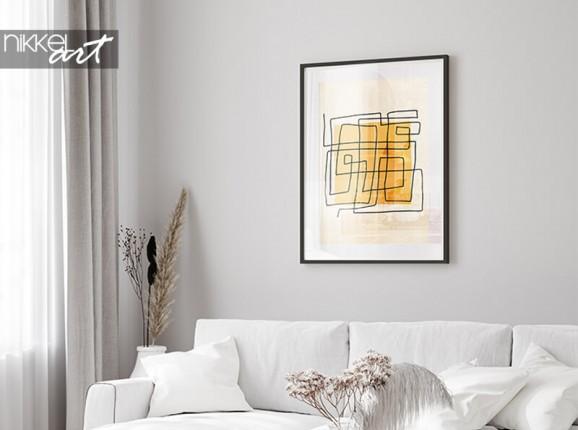Ingelijste minimalistische poster