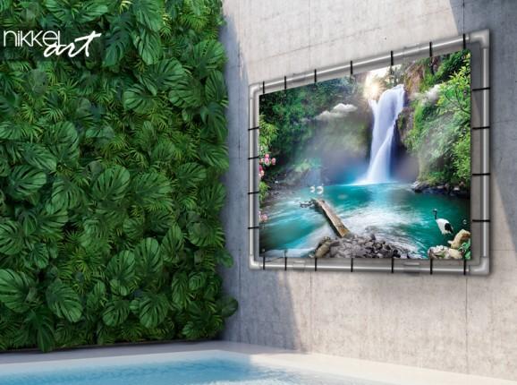 Tuinposter met waterval
