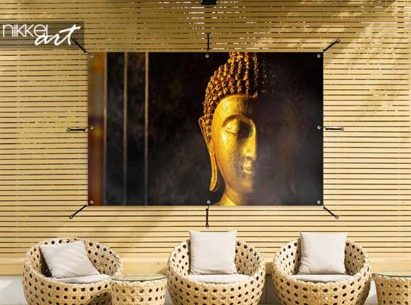 Tuinposter met Boeddha beeld