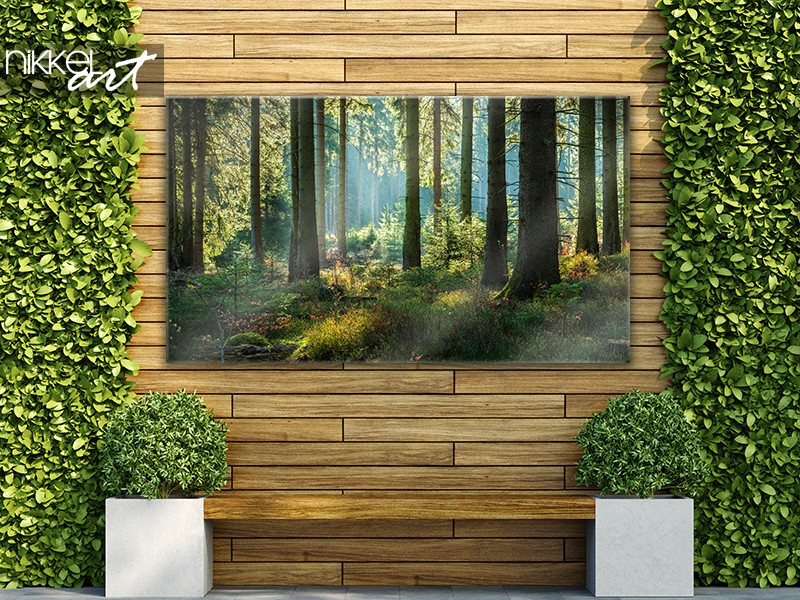 Tuinposter met bos