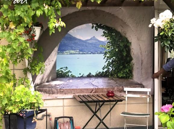 Tuinposter windowview