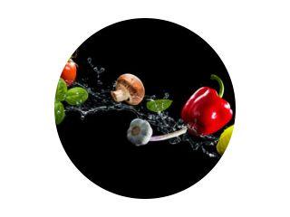 Vegetables water splash