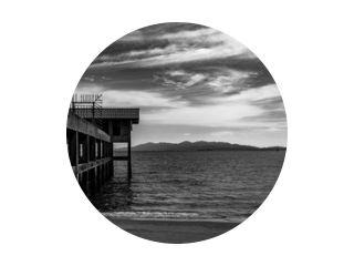 seascape thailand satun pier black and white sunset