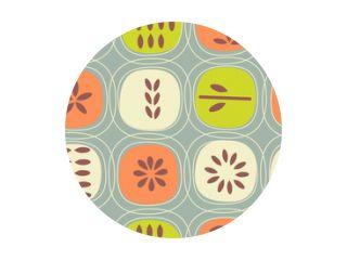 Abstract seamless pattern of fruits. Retro Scandinavian style. For fabrics, wallpaper, interior decor.