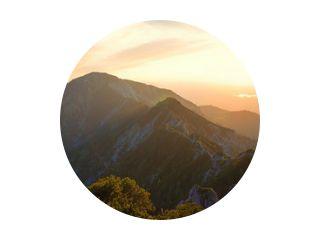 alpine landscape panorama in the evening, herzogstand mountain