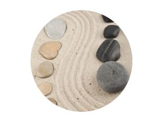 background with stones and sand for meditation and relaxation to