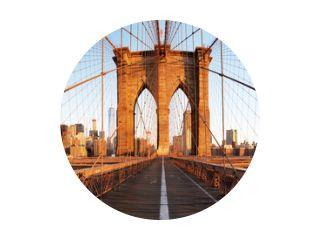 New York City with brooklyn bridge, Lower Manhattan, USA