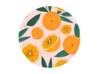 Oranges hand drawn seamless pattern for print, textile, fabric. Modern hand drawn stylized citrus background.